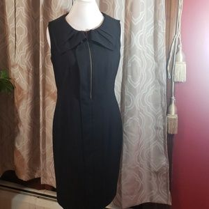 TAHARI COLLAR PLEATED DRESS SZ 10